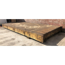 Cast Iron Bed Plate (8) Tee Slots Size - 5670 x 2470 x 360mm