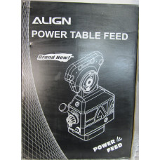 Align Power Feed Unit for X  Axis